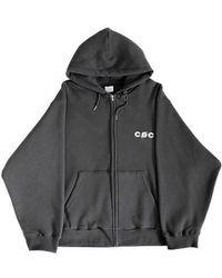 CHANCECHANCE - Cec Hood Zip Up_charcoal - Lyst