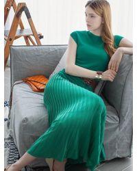 MOIMOII - See-through Pleats Knit Skirt - Lyst