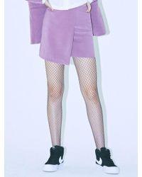 MIGNONNEUF - Crush Layer Skirt Red Bean - Lyst