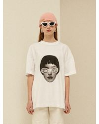 13Month - [unisex] Face Printing T-shirt White - Lyst