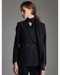 OUAHSOMMET - Classic Wool Double Suit Jacket_navy - Lyst