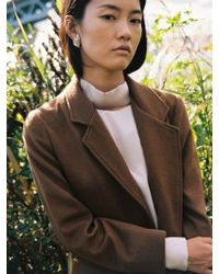 W Concept - Signature Wool Jacket_ Camel - Lyst