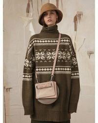 ADER error - Oversize Fair Isel Knitwear Khaki - Lyst