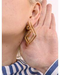 VIOLLINA - Hanguel Alphabet Single Earring-3 Gold - Lyst