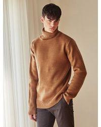 LIUNICK - Warm Weave Turtleneck Sweater_dark Beige - Lyst