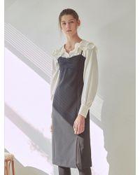 YAN13 - Slit Bustier Dress Black - Lyst