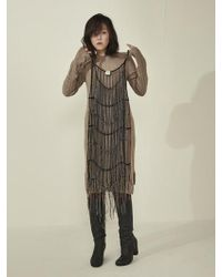 Aheit - Chainmail Dress With Mechanic Embroidery - Lyst