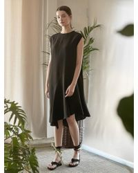 NILBY P - Unbalanced Full Skirt Dress Bk - Lyst