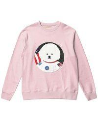 Beyond Closet - Apollo Dog Patch Sweat Shirt Indi Pink - Lyst