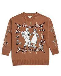 Beyond Closet - Mix Rounge Knit Camel - Lyst