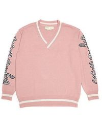 Beyond Closet - Bc Lettering V Neck Knit Indi Pink - Lyst