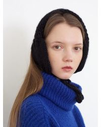 Awesome Needs - Hand Made Lambs Wool Knit Ear Muff_black - Lyst