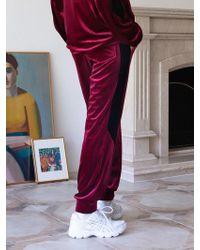 TARGETTO - [unisex] Velvet Training Trousers Burgundy - Lyst