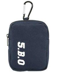 W Concept - [unisex] Mini Key Ring Bag Navy - Lyst