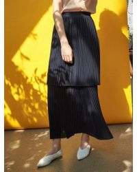 COLLABOTORY - Two Block Pleats Skirt - Lyst