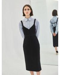 COLLABOTORY - Baama7008m High Waist Midi Pencil Skirt_black - Lyst