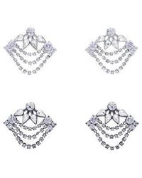 VIOLLINA - Another V Stone Statement Earring - Lyst