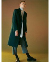Bouton - Slim Wool Slacks-dark Green - Lyst