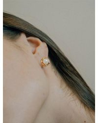 W Concept - Pearl Wave Earring - Lyst