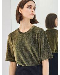 COLLABOTORY - Baamb2008m Glitter Short Sleeve T-shirts_gold - Lyst