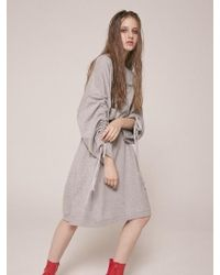 CLUT STUDIO - [unisex] 0 3 Shirring Sweatshirt - Grey - Lyst