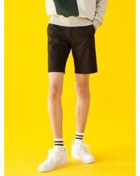 BONNIE&BLANCHE - Plain Cotton Shorts (black) - Lyst