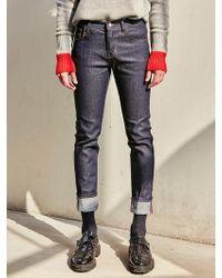 LIUNICK - Regular Washed Slim Jean Blue - Lyst