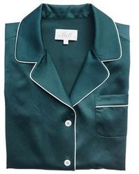 W Concept - Deep Green Pj Shirt - Lyst