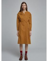 W Concept - Enticing Trench Coat Mustard - Lyst