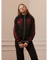 TARGETTO - Roses Jersey Jackey Black Red - Lyst