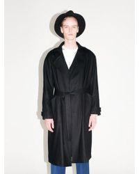 BONNIE&BLANCHE - Wool Trench Coat Black - Lyst