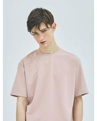 MIGNONNEUF Mnfs Slit Basic T Shirts Pink