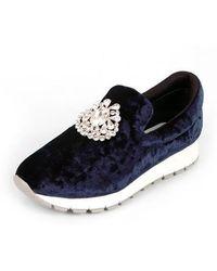 SHOBONYATA - Jewelry Soft Velvet Sneakers_s3037n - Lyst