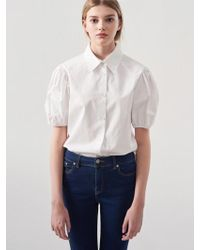 Blanc & Eclare - Hera Blouse_ss3529wh - Lyst