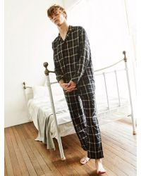 W Concept - [unisex]check Pyjama Trousers Black - Lyst