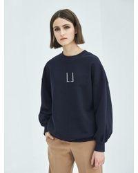 COLLABOTORY - Puff Sleeve Sweatshirt In Navy - Lyst