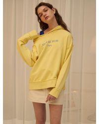 1159 STUDIOS - Mh5 Off Shoulder Hoodie Yellow - Lyst