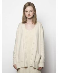 MADGOAT - Cashmere Button Cardigan_ivory - Lyst
