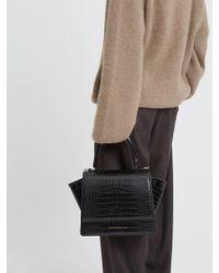 Lyst - Versace Jeans Croco-embossed Bucket Bag in Black 50495eea99