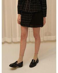 1159 STUDIOS - Mh5 Tweed Pleats Skirt Black - Lyst