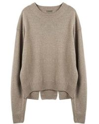 MADGOAT - Back Slit Cashmere Cropped Knit_beige - Lyst