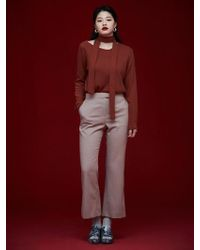 Grace Raiment - Check Flared Trousers - Lyst