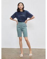 W Concept - Lv Bike Shorts Green - Lyst