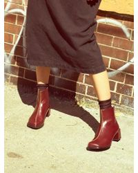 Wite - D04 - Wine Square Ankle Boots - Lyst