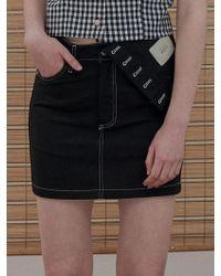 1159 STUDIOS - Mh6 Linen Inside-out Skirt_bk - Lyst