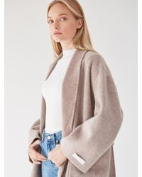 PLOT - Cashmere Big Pocket Coat Brown - Lyst