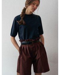 W Concept - Via Rue High-waist Half Pants - Lyst