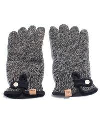 W Concept - Ahd Og Label Wool Gloves - Lyst