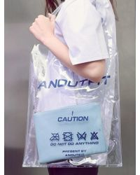 ANOUTFIT - [unisex] Pvc Tote Bag Skyblue - Lyst
