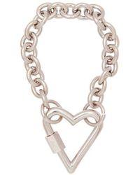 VIOLLINA - Heart Screw Ring Bracelet - Lyst